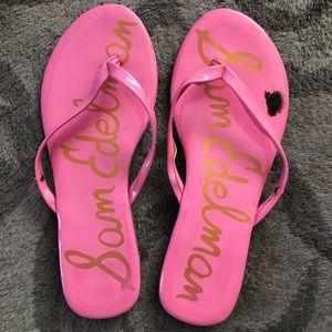 Pink Sam Edelman flip flops